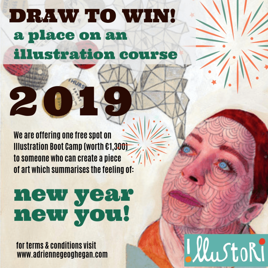 Still time to win €1300 Tutition to top Dublin Illustration Class
