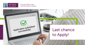 Last Chance to Apply for a Part-time Course at NUI Galway!